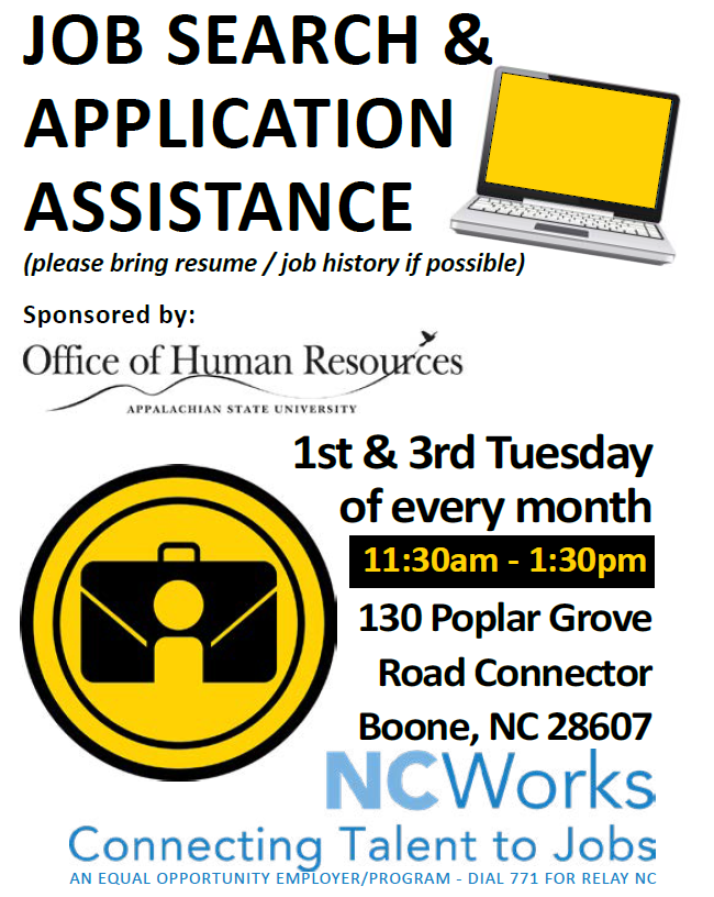 NC Works Job Search and Application Assistance