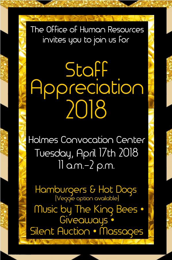 2018 spring staff appreciation luncheon to be held on
